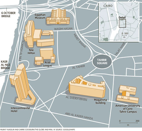 Tahrir Square map