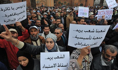 Moroccans demonstrate in Rabat demanding political reform