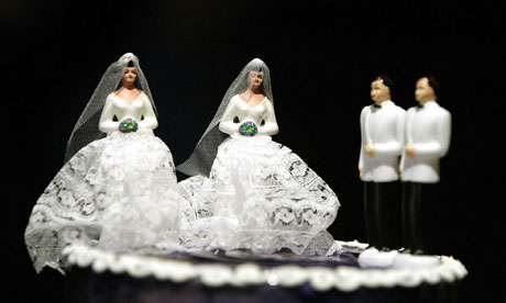 Gay wedding cake figures