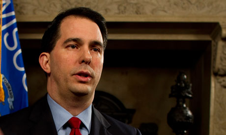 Scott Walker is currently embroiled in a dispute over public sector pay Photograph