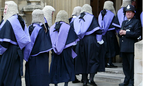 judges and barristers attend annual Judges Service at  Westminster Abbey, London