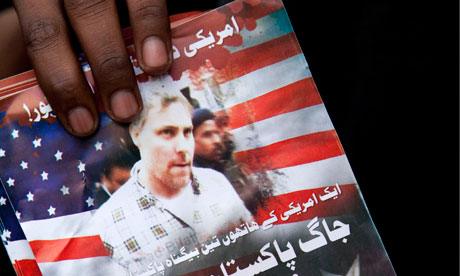 A flier calling on Pakistanis to demonstrate against attempts to release CIA agent Raymond Davis
