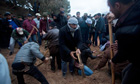 Benghazi residents dig in former army headquarters