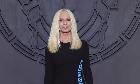 Donatella Versace at Milan fashion week