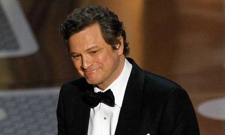 Colin Firth accepts the Oscar for best actor for The King's Speech