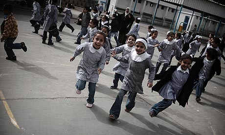 A UNRWA school in Gaza