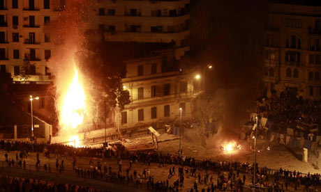 Fires in Tahrir Square