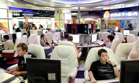 An internet cafe in Bangkok