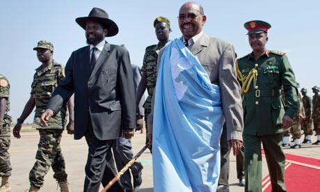 Omar al-Bashir with Salva Kiir in Juba, January 2011