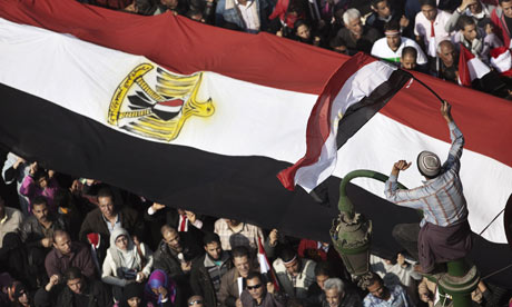 Thousands of anti-government supporters gather for the 15th consecutive day to demonstratein Cairo.