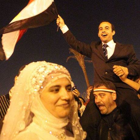 Wedding in Tahrir Square