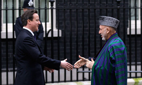 Hamid Karzai, David Cameron