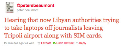Libya tweet