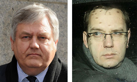 Jonathan Rees, left, was rehired by Andy Coulson, right, at the News of the World