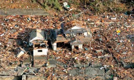 japan tsunami. Japan tsunami house destroyed