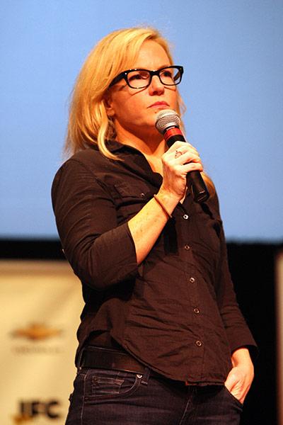 Rachael Harris speaks at  0    Rachael Harris
