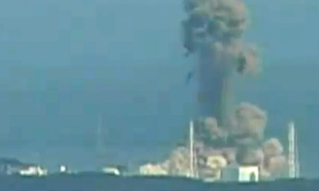 Explosion at Japan's Fukushima nuclear power plant, March 2011