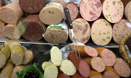 German sausage meats