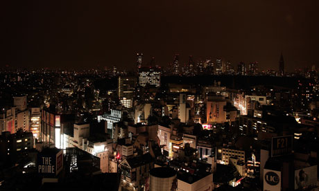 The city of Tokyo during power cuts
