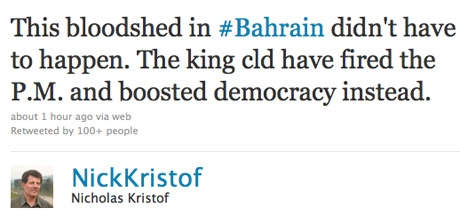 Kristof Bahrain Twitter