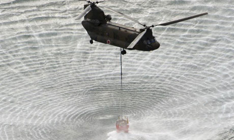 Japan: helicopter water drop