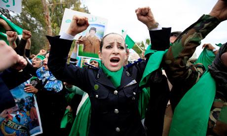 Libyan policewoman