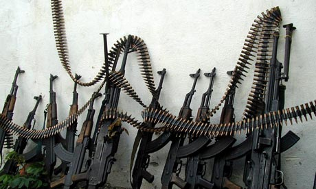 arms trade kalashnikov rifles
