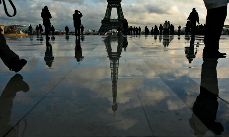 The Eiffel tower. Photograph: Muhammed Muheisen/AP
