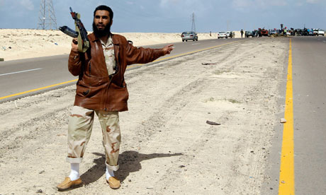 A Libyan rebel fighter