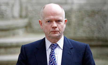 William Hague arrives in Downing Street