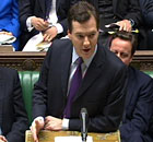Chancellor George Osborne delivers his Budget in the House of Commons, London.