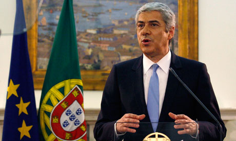 Portugal's Prime Minister Jose Socrates announces his resignation