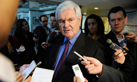 Newt Gingrich speaks to reporters