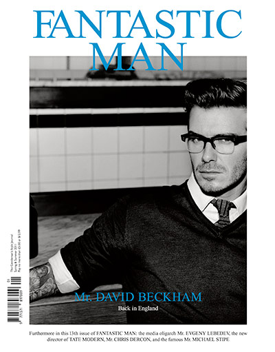 David Beckham: David on the cover of Fantastic Man magazine, March 2011