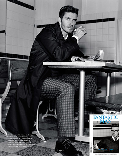 David Beckham: David in Fantastic Man magazine, March 2011