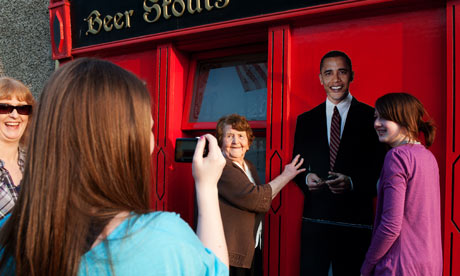 Barack Obama cutout in Moneygall, Ireland