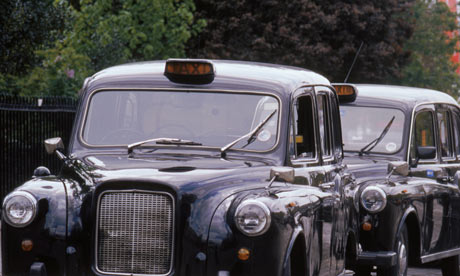 Black taxi cabs