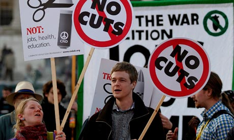 Protest against coalition cuts