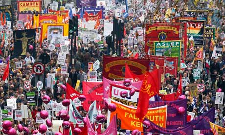 The anti-cuts march in London