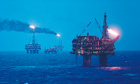 oil rig north sea