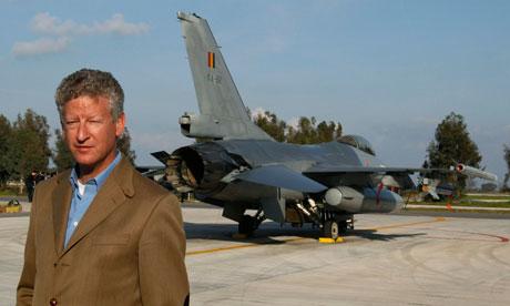 Belgian Defence Minister De Crem at Araxos airbase
