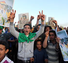 Libyans loyal to leader Muammar Gaddafi