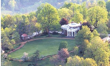 Thomas Jefferson's home at Monticello, Virginia