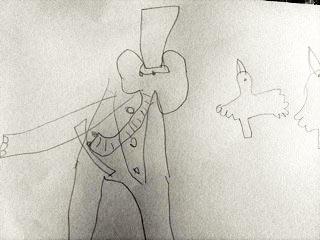 babaar drawing by Innes