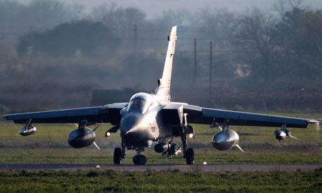 RAF tornado lands at NATO airbase italy