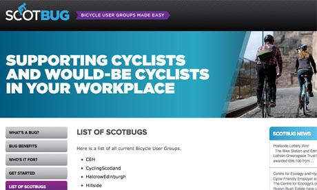 Cyclists can log in to the ScotBUG site to set up their own page