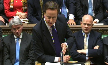 The prime minister, David Cameron, who told the House of Commons he wished Ed Balls would shut up