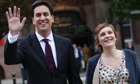 Ed Miliband and his partner, Justine Thornton, pictured at the 2010 Labour conference in Manchester