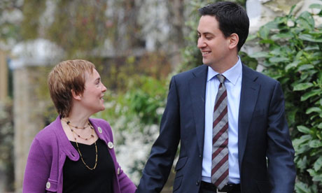 The Labour leader, Ed Miliband, and his partner, Justine Thornton