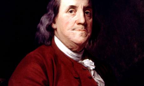 Portrait of Benjamin Franklin by John Wright